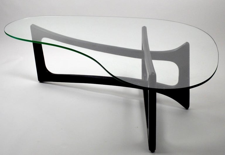 20th Century Amoeba Glass Coffee Table by Adrian Pearsall for Craft Associates For Sale