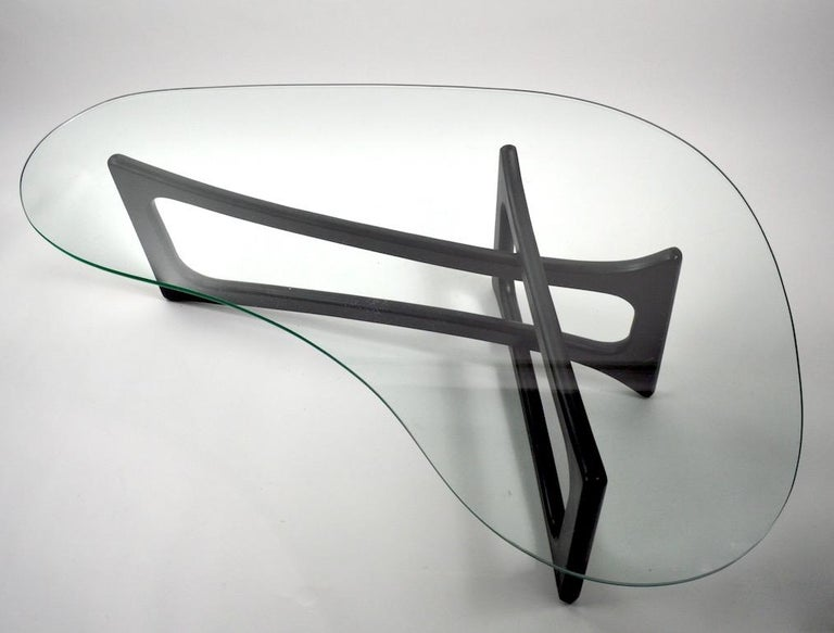 Mid-Century Modern Amoeba Glass Coffee Table by Adrian Pearsall for Craft Associates For Sale