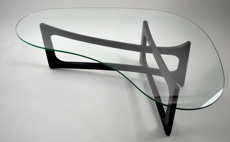 American Amoeba Glass Coffee Table by Adrian Pearsall for Craft Associates For Sale