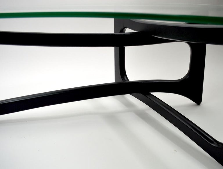 Amoeba Glass Coffee Table by Adrian Pearsall for Craft Associates For Sale 2