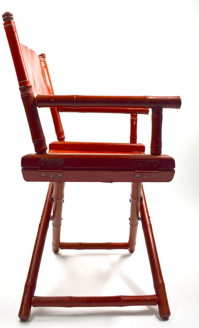 20th Century Five Folding Campaign Chairs by Telescope For Sale