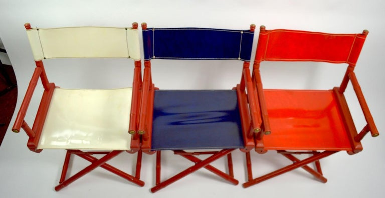 Five Folding Campaign Chairs by Telescope For Sale 8