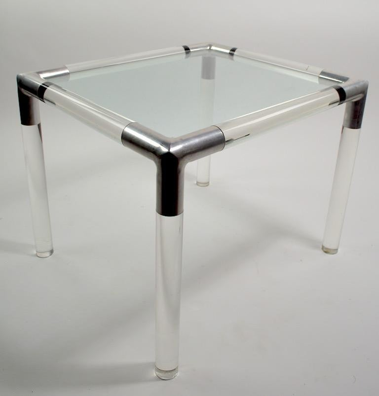 Lucite Glass Table by Charles Hollis Jones For Sale 2