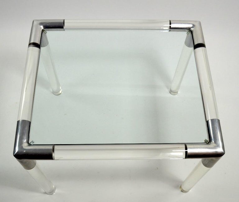 Lucite Glass Table by Charles Hollis Jones For Sale 4