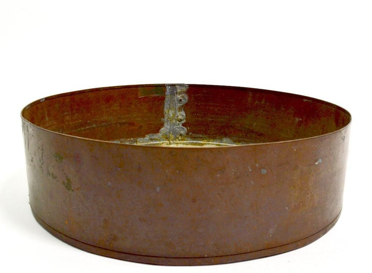 20th Century Industrial Copper Bowl Planter Architectural Element For Sale