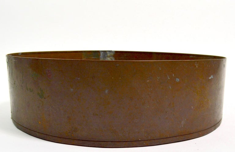 Industrial Copper Bowl Planter Architectural Element For Sale 1