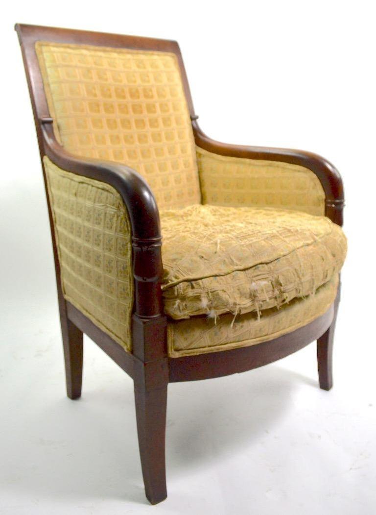 American Empire 19th Century Empire Tub Chair For Sale