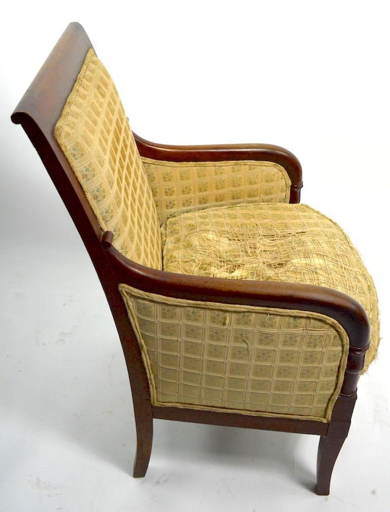 19th Century Empire Tub Chair For Sale 4