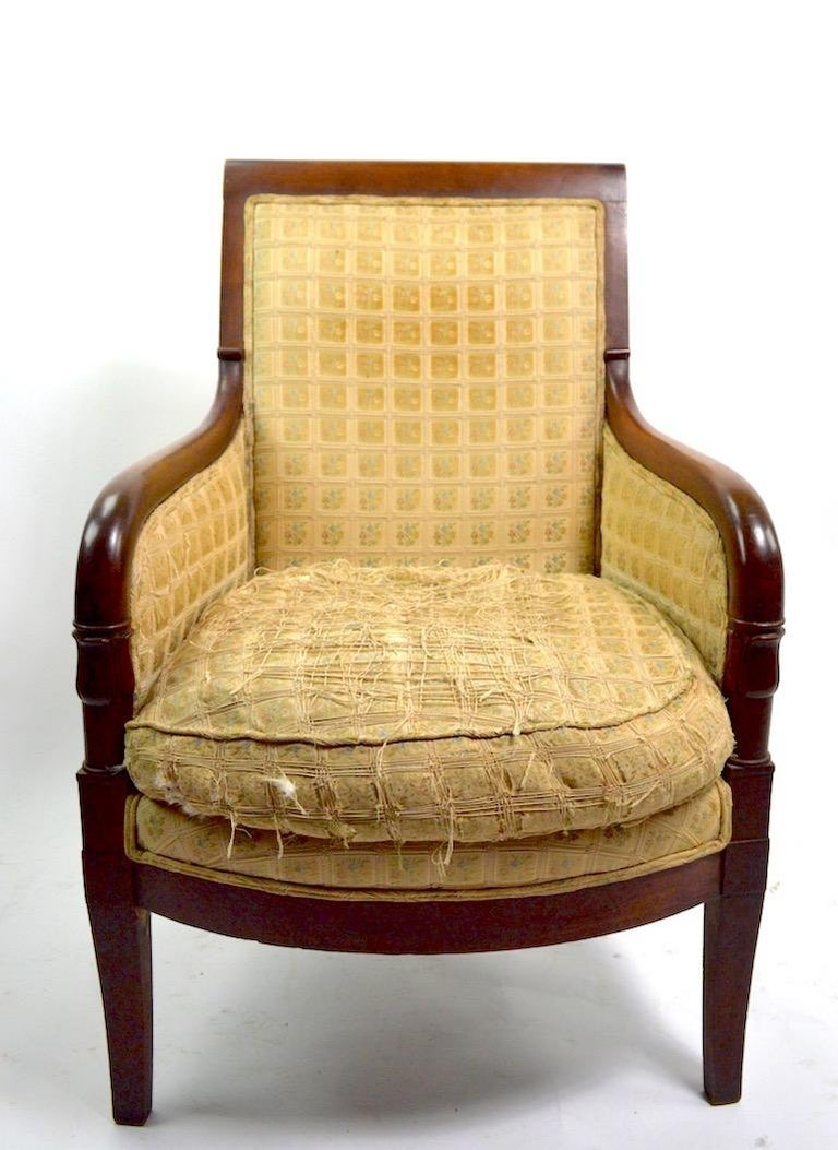 19th Century Empire Tub Chair For Sale 5
