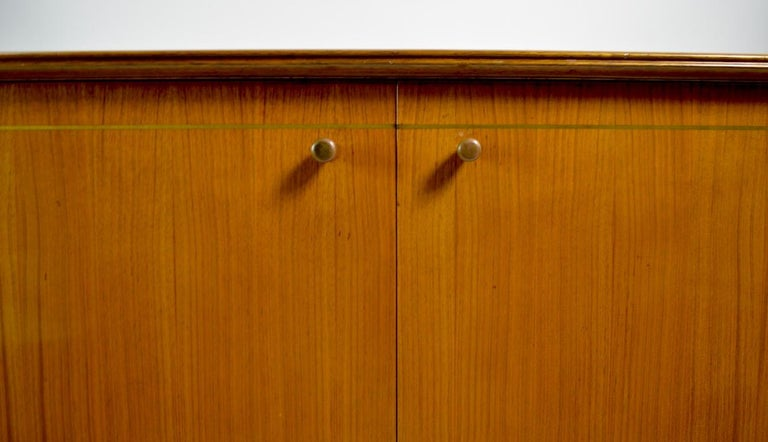 Mid-Century Modern Elegant Mid Century Two-Door Chifforobe Dresser after Ponti For Sale