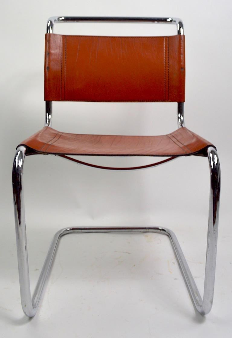 Set of Six Spoleto Chairs Attributed to Knoll After Breuer For Sale 1