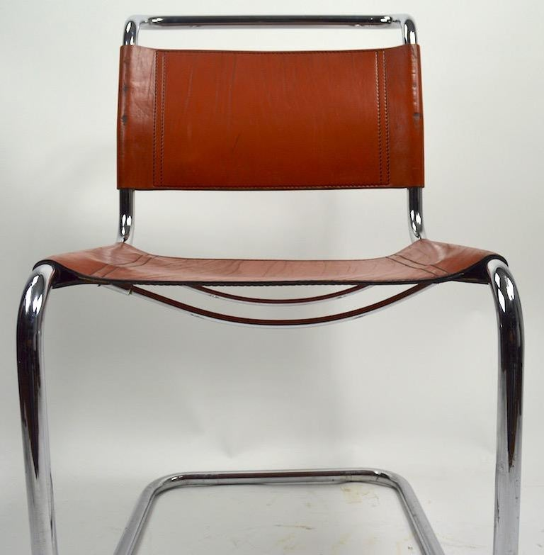 Set of Six Spoleto Chairs Attributed to Knoll After Breuer For Sale 3