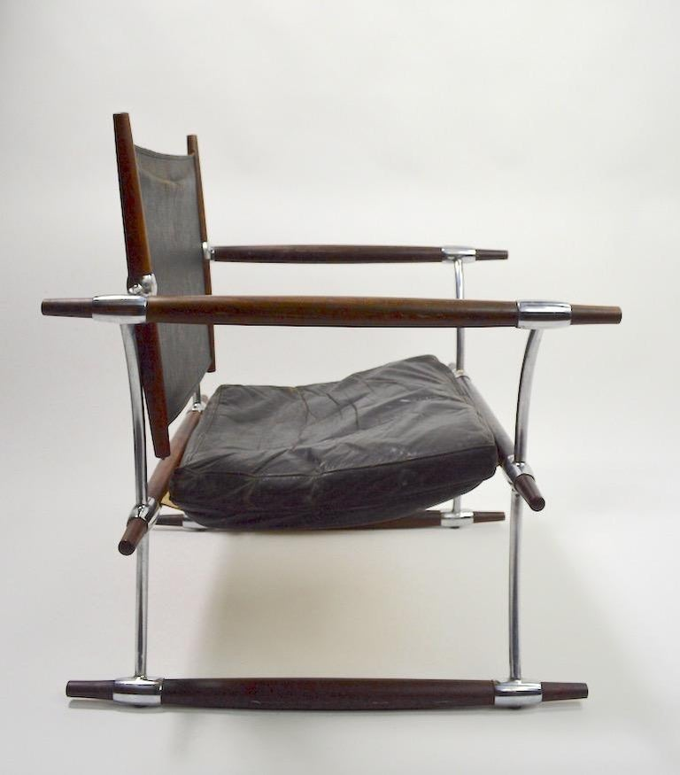Pair of Quistgaard for Dansk Safari Lounge Chairs For Sale 1