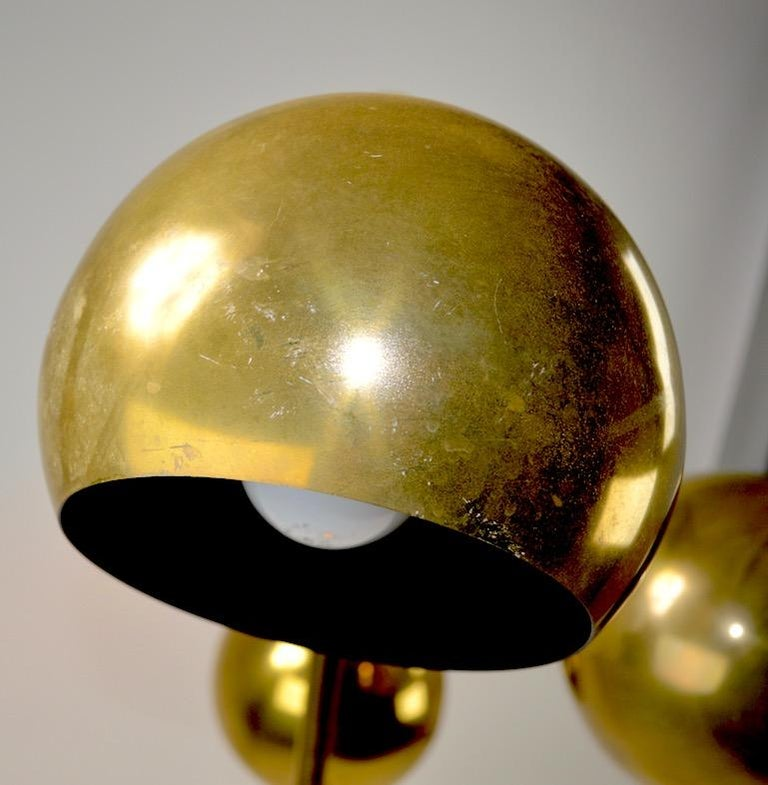 20th Century Three-Light Brass Floor Lamp by Koch and Lowy For Sale