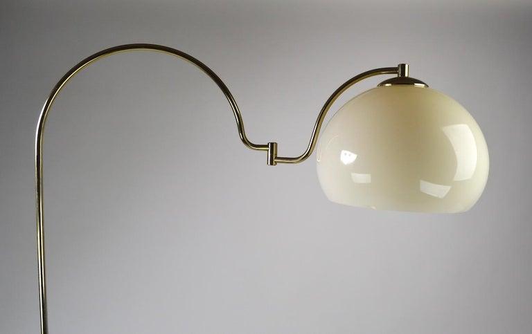 American Adjustable Swing Arm Floor Lamp by Laurel For Sale