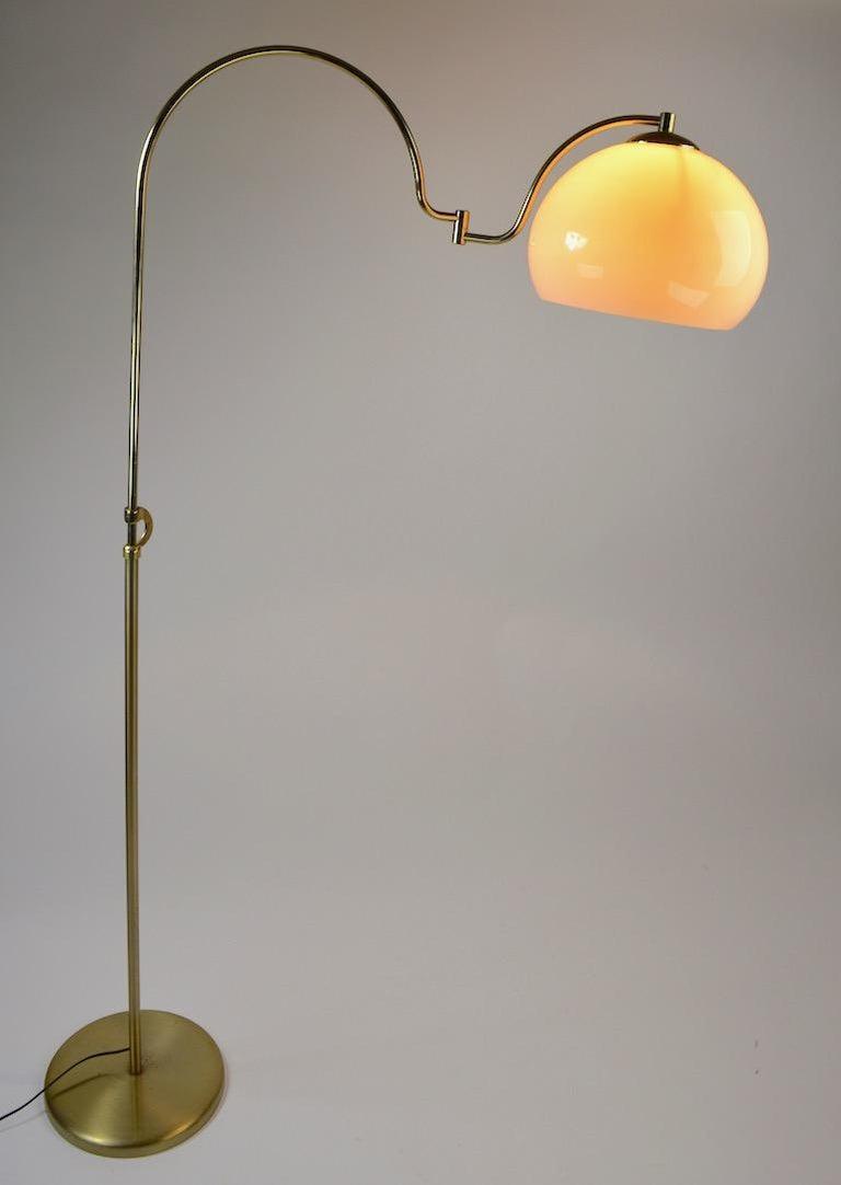 Adjustable Swing Arm Floor Lamp by Laurel For Sale 2