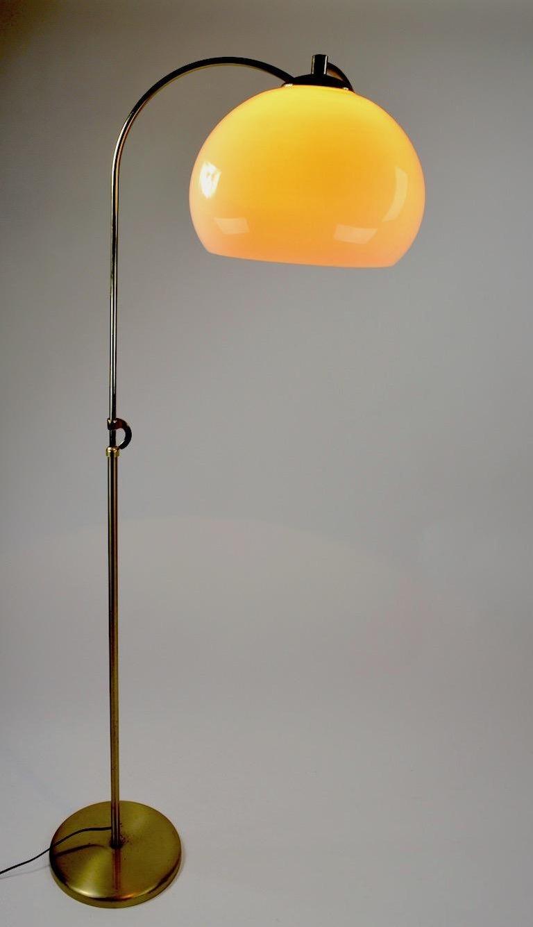 Adjustable Swing Arm Floor Lamp by Laurel For Sale 3