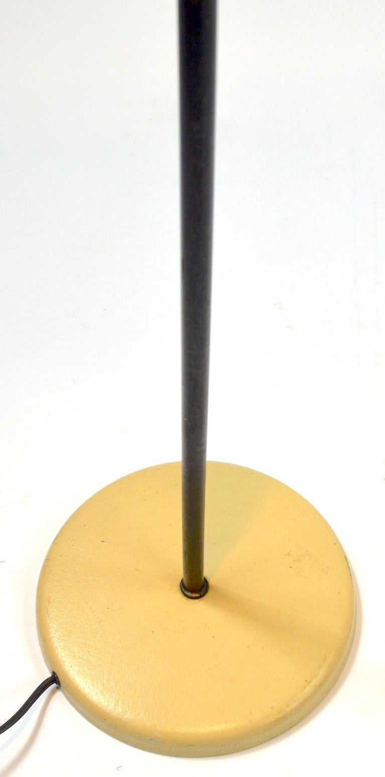 Cream and Black Ball Shade Floor Lamp by Sonneman In Good Condition For Sale In New York, NY