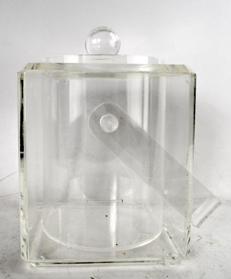 Mid-Century Modern Lucite Ice Bucket For Sale