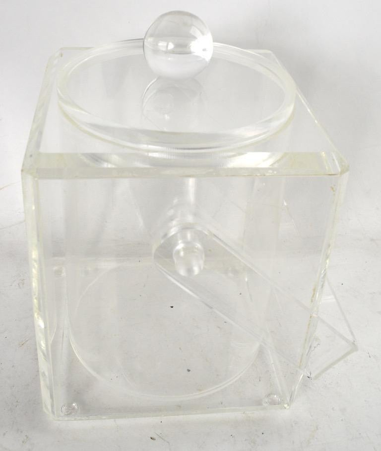 American Lucite Ice Bucket For Sale