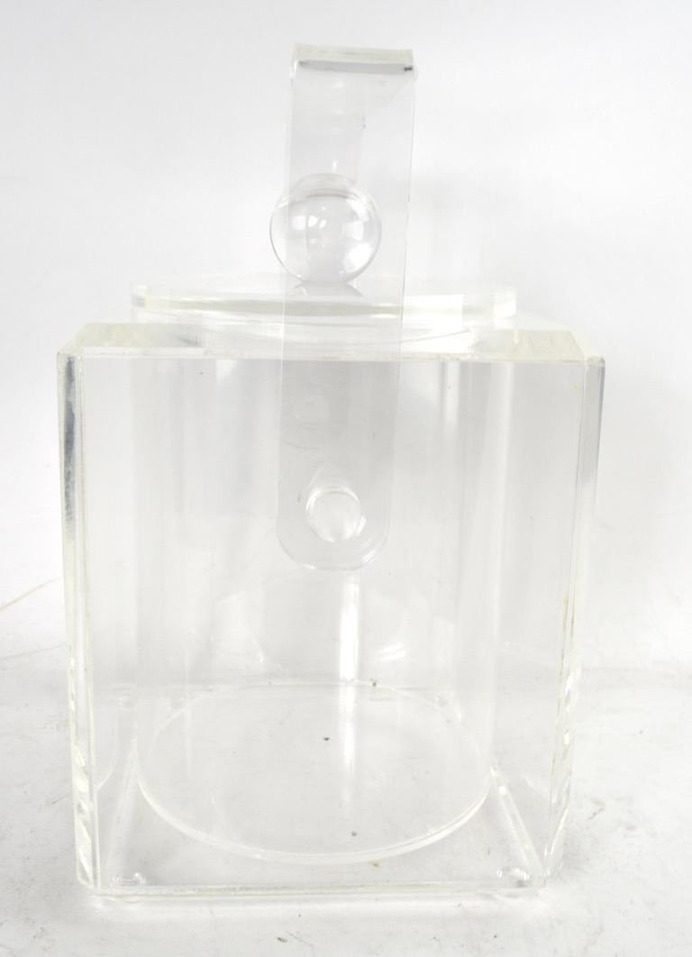 20th Century Lucite Ice Bucket For Sale