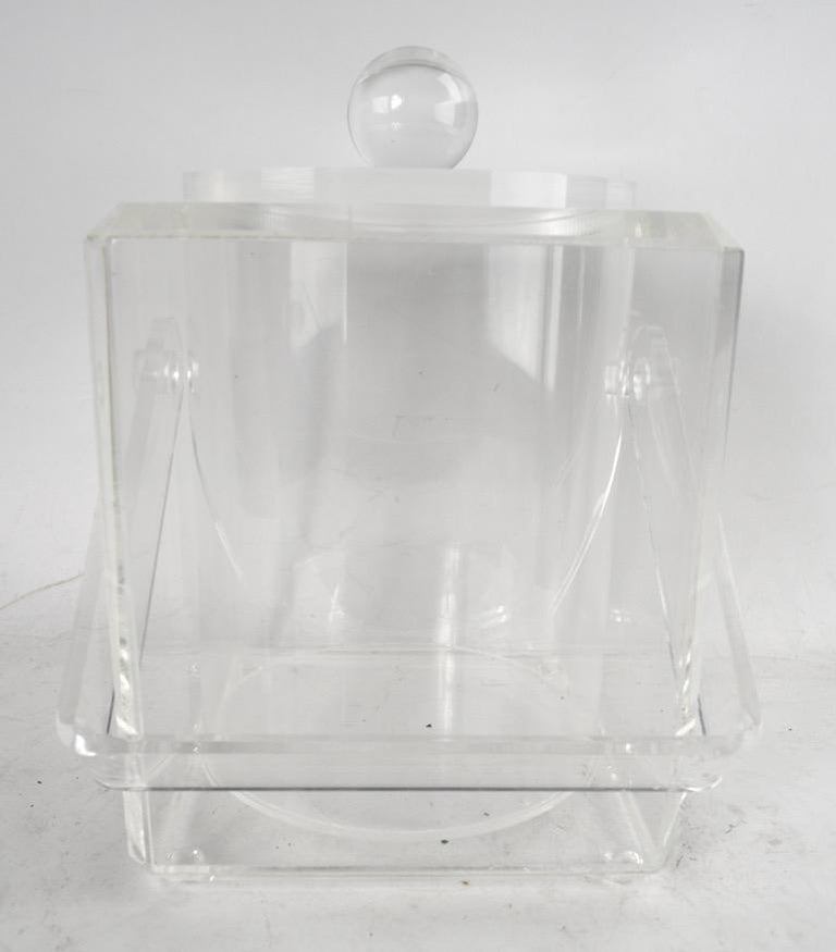 Lucite Ice Bucket For Sale 4