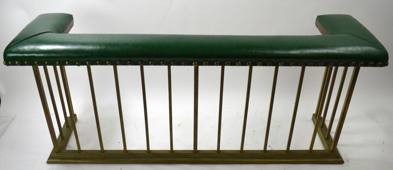 Club Bench Fireplace  Fender  In Good Condition For Sale In New York, NY