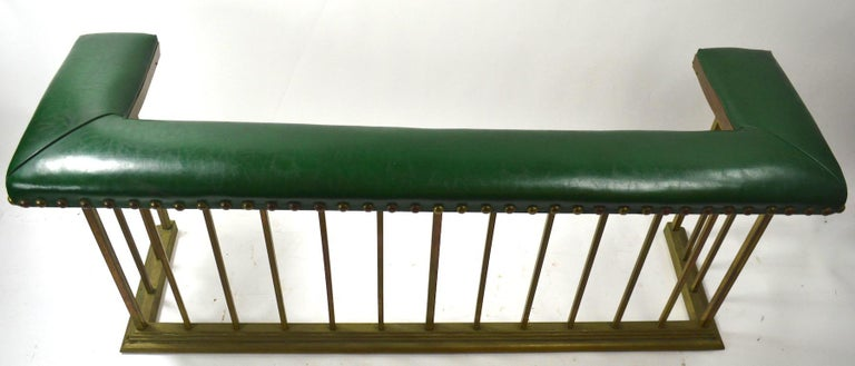 Brass Club Bench Fireplace  Fender  For Sale