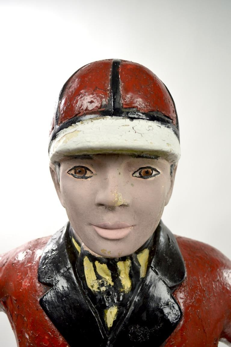 American Cement Lawn Jockey For Sale