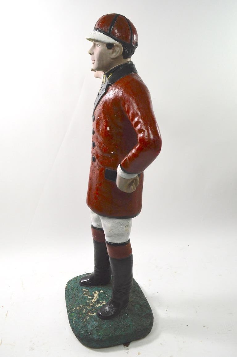 Cement Lawn Jockey For Sale 3
