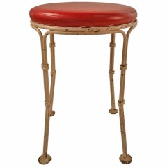 Wrought Iron Pouf Stool from Kutcher's Resort One of Six Available