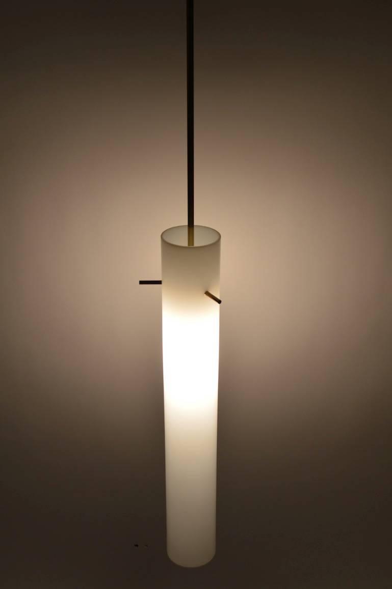 elegant pair of glass cylinder light fixtures at 1stdibs