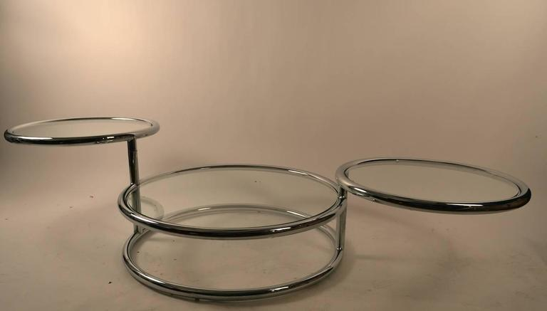 American Chrome Mechanical Disk Table For Sale