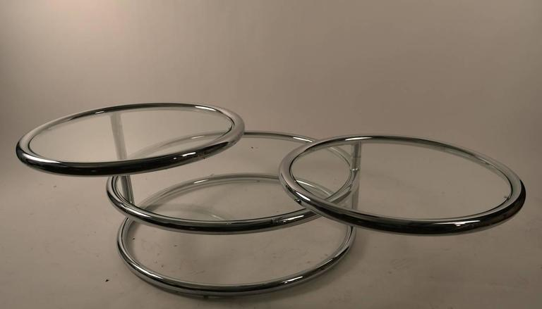 Chrome Mechanical Disk Table For Sale 1