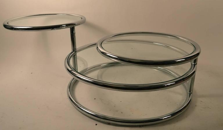Chrome Mechanical Disk Table For Sale 3