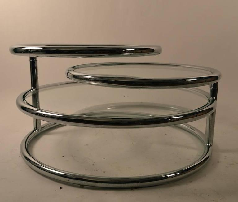 Chrome Mechanical Disk Table For Sale 2