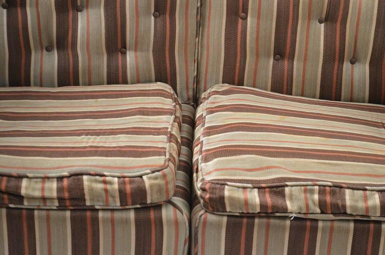 Upholstery Diminutive Art Deco Sectional Loveseat, Needs Reupholstery For Sale