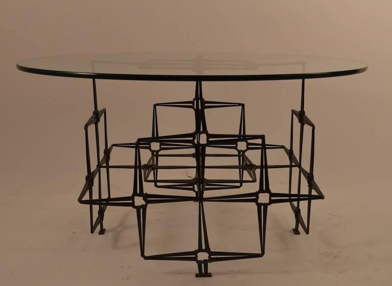 Classic welded nail coffee, cocktail table, with .5