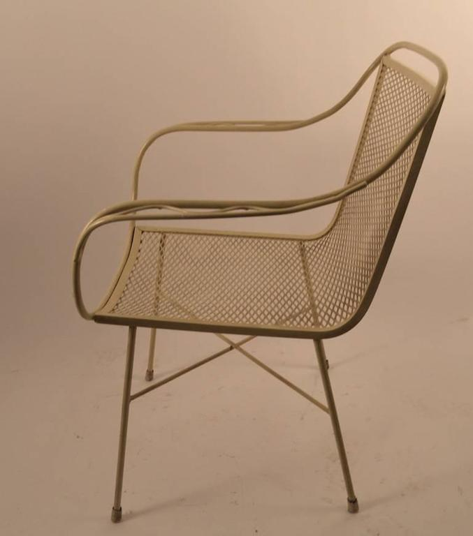 Pair Of Salterini Metal Mesh Chairs For Sale At 1stdibs