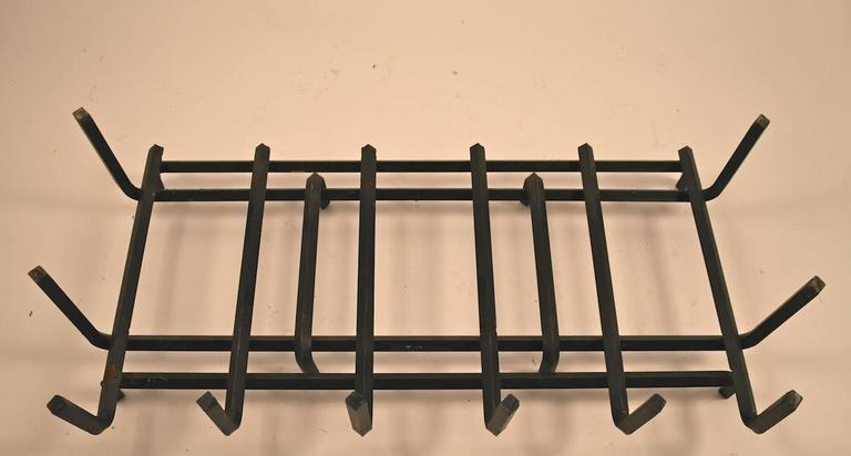 Extra Large Iron Fireplace Grate Insert At 1stdibs