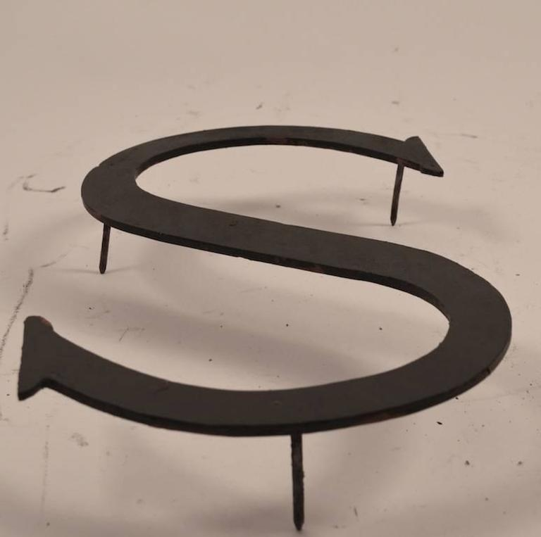 Collection of Approximately 40 Steel Letters For Sale 1