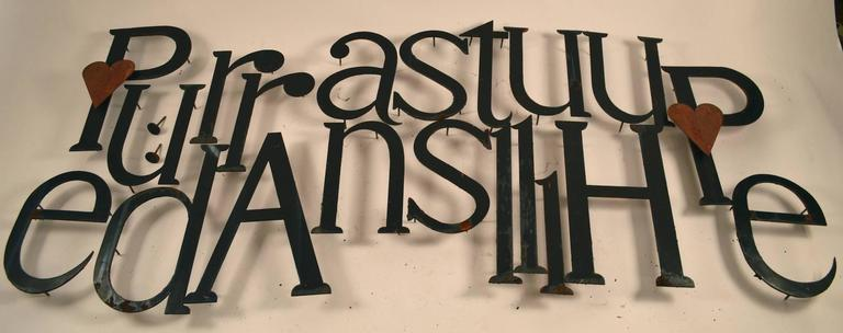 Collection of Approximately 40 Steel Letters For Sale 3