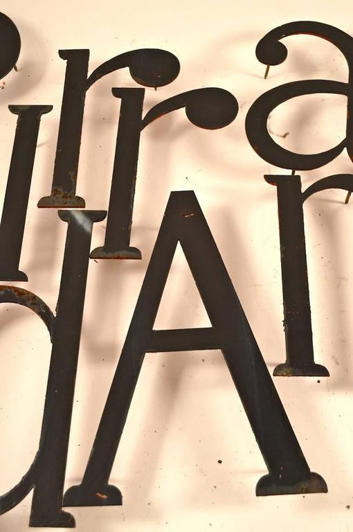 American Collection of Approximately 40 Steel Letters For Sale