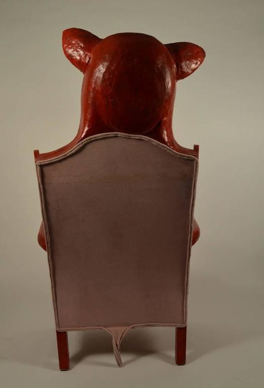 completely wack red pig chair at 1stdibs