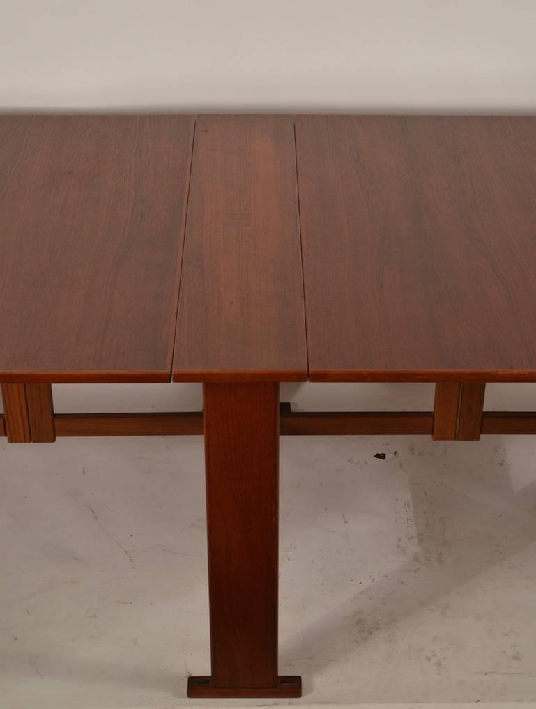 Large extension drop leaf table after bruno mathsson for for Large drop leaf dining room tables