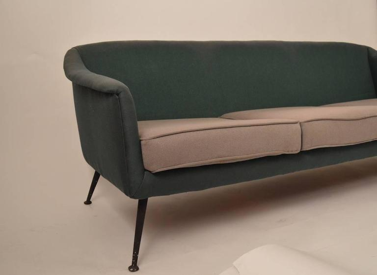 Metal  Atomic Style Mid-Century Modern Swedish Sofa For Sale
