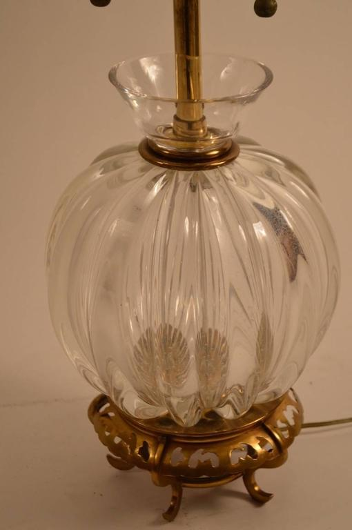 Glass Murano Lamp by Marbro For Sale