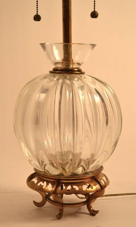 Mid-20th Century Murano Lamp by Marbro For Sale