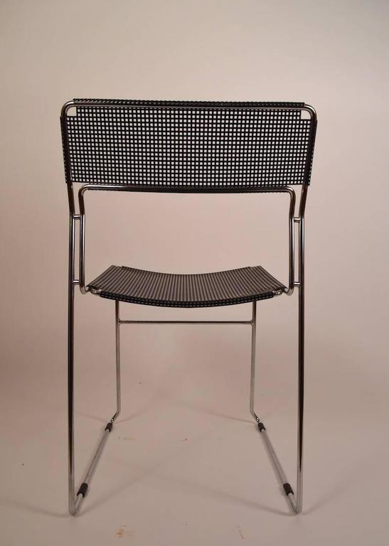 black and chrome metal mesh chair for sale at 1stdibs. Black Bedroom Furniture Sets. Home Design Ideas