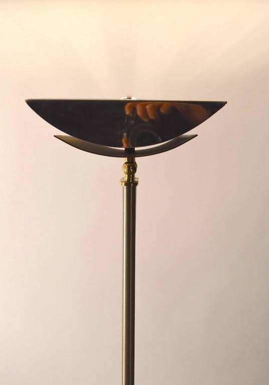 Italian Made Halogen Floor Lamp Torchiere Brass And Steel